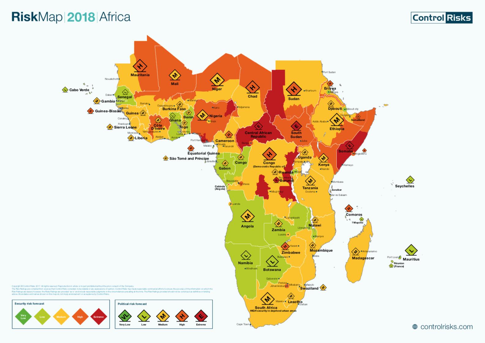 RiskMapMAPREGIONSAFRICA BBrief - Regions of africa
